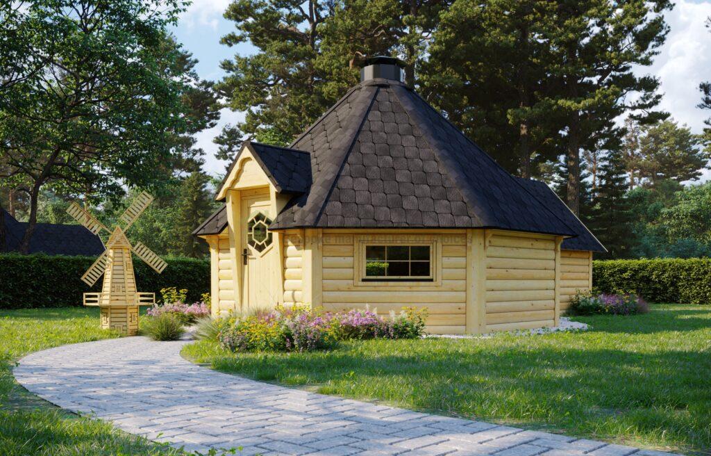 BBQ Hut 16.5m2 + Sauna extension – Mirth 3