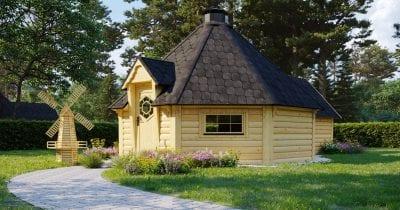 Capanna BBQ 16.5m2 + estensione sauna - Mirth 3