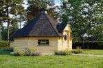 BBQ Hut 16,5 m² with Sauna in 2,5 m Extension