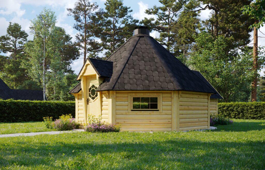 BBQ Hut 16.5m2 with sauna extension – Jubilee