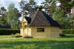 BBQ Hut 16,5 m with Sauna in 2,5 m Extension