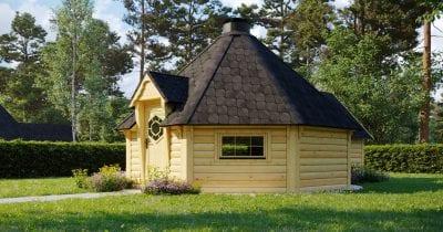 BBQ Hut 16.5m2 con estensione sauna - Jubilee