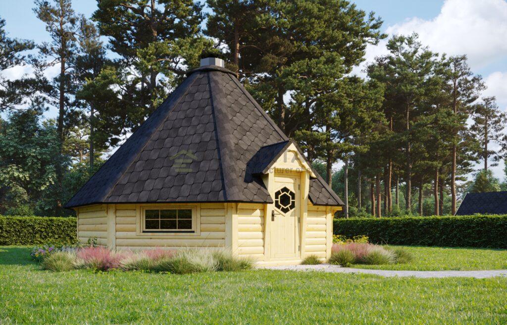 BBQ Hut 25m2 with Sauna extension – Mirth 4