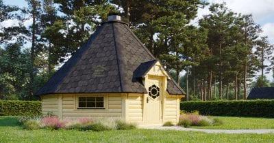 Capanna BBQ 25m2 con estensione Sauna - Mirth 4