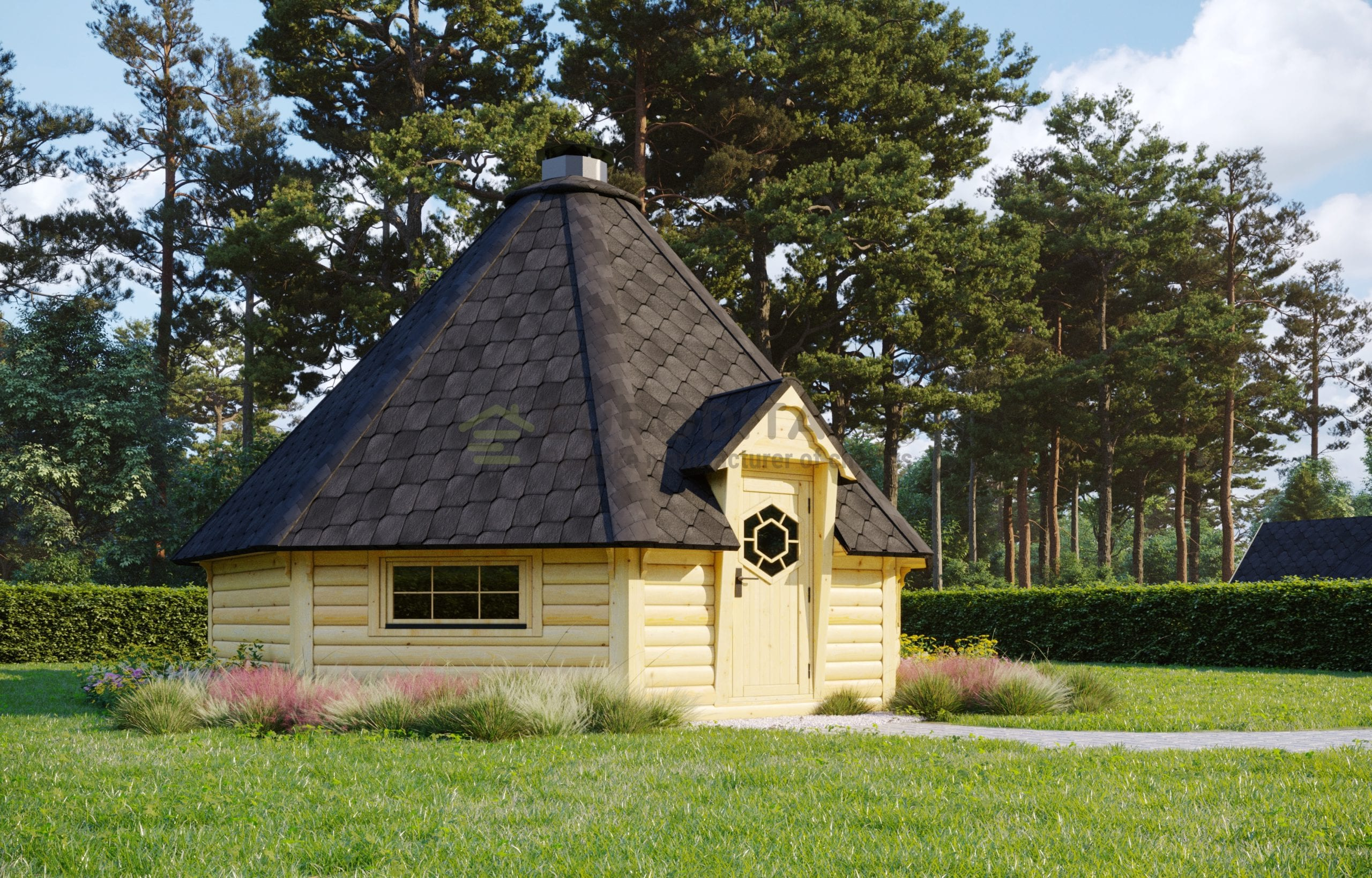 BBQ Hut 25m2 with Extension 2.5m