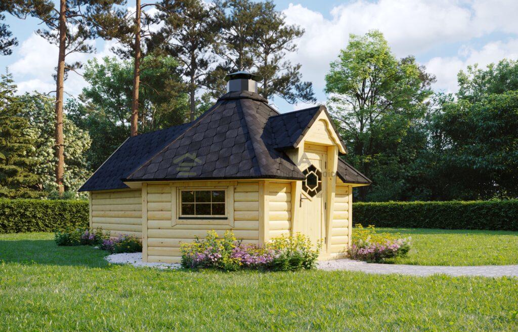 BBQ Hut 9.2 m2 with Sauna extension – Mirth 2