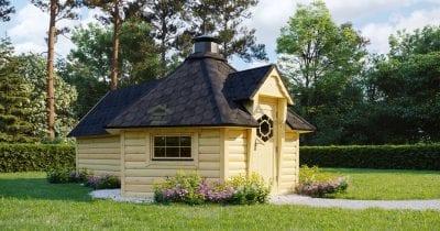 Capanna BBQ 9.2 m2 con estensione Sauna - Mirth 2
