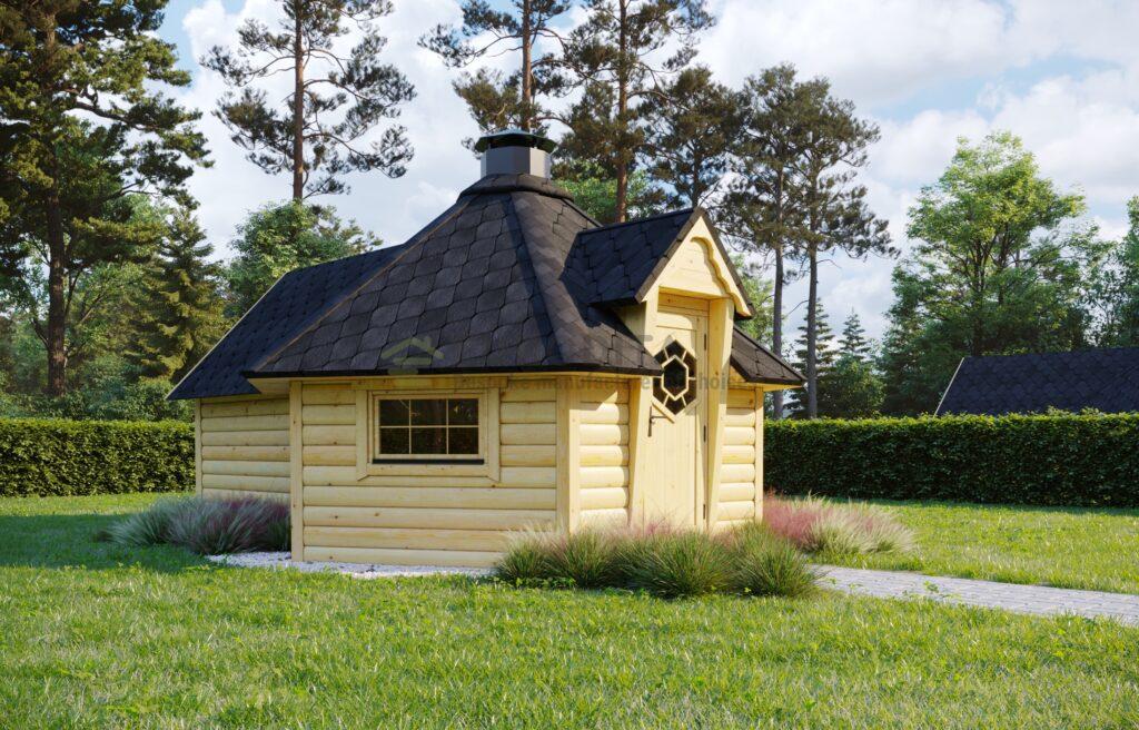 BBQ Hut 9.2m2 + Sauna Extension – Mirth 1