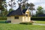 BBQ Hut 9.2 m2 with 2.5 m Sauna Extension