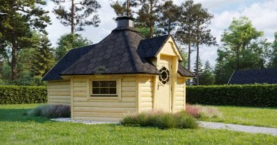 Capanna BBQ 9.2m2 + Estensione sauna - Mirth 1
