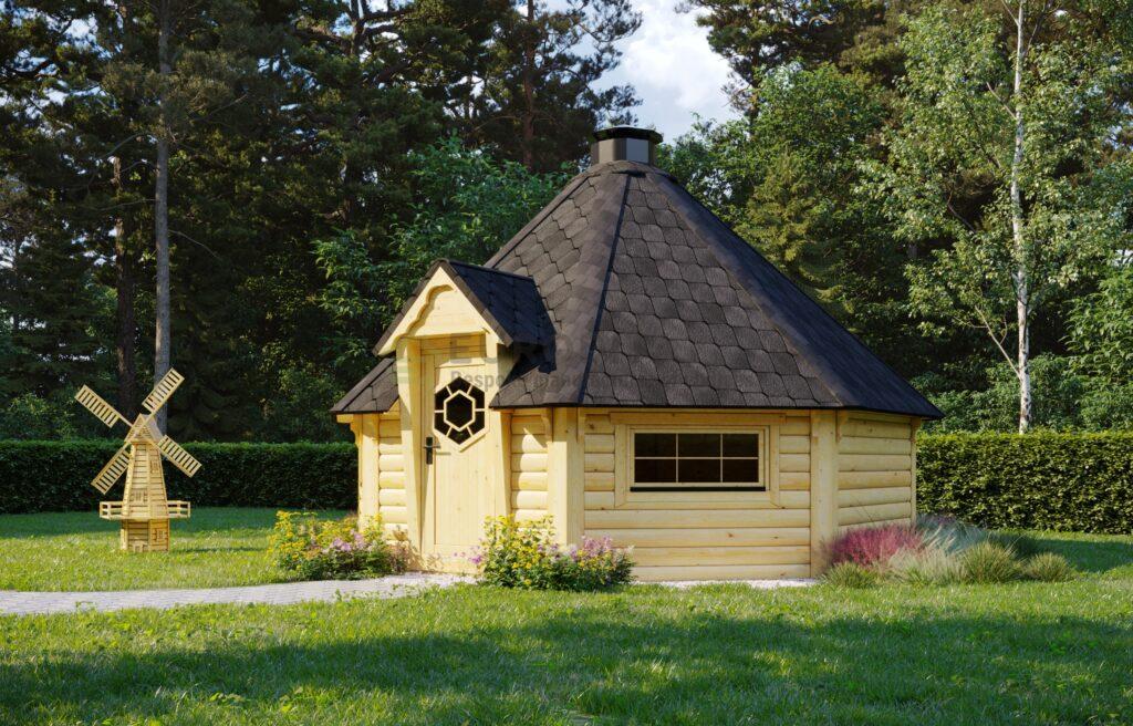 Sauna BBQ Hut Merry – 16.5m2