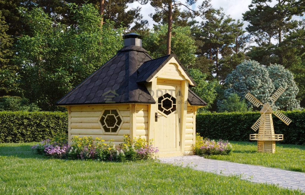 Sauna BBQ Hut Haze 2 – 7m2