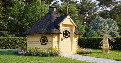 Sauna BBQ Hut Haze 2 - 7m2