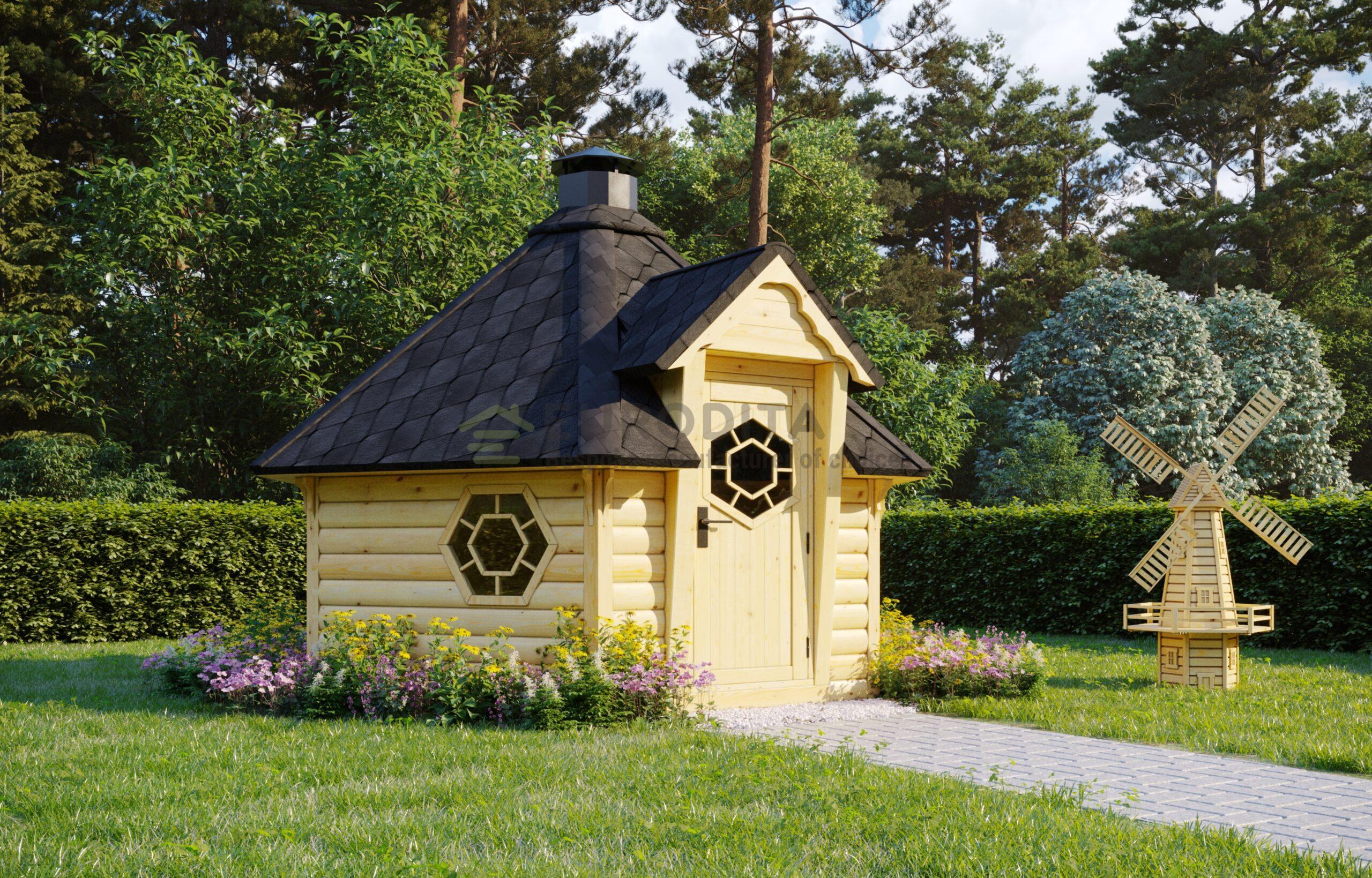 BBQ Hut Sauna Cabin 7m2