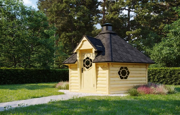 Sauna BBQ Hut Haze 3 - 9.2m2