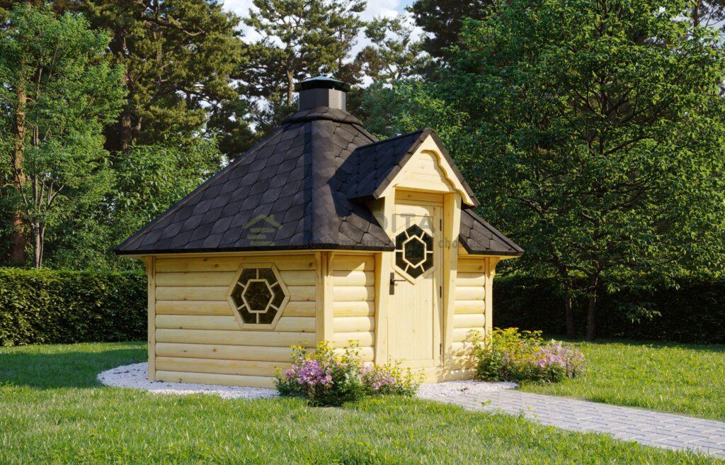 Sauna BBQ hut Jolly – 9.2m2