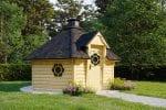 BBQ Hut Sauna Cabin 9,2 m with Changing Room