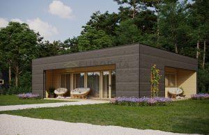 cabine di tronchi contemporanee