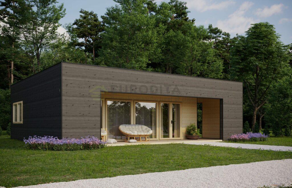 Contemporary Log Home Rutland
