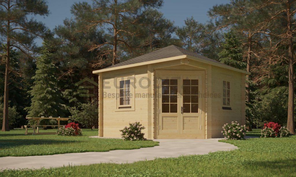 Corner Log Cabin 3×3m – Sera 2