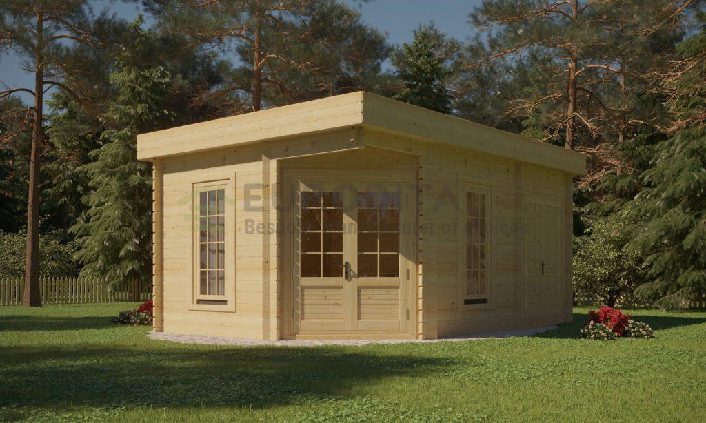 Blockhaus Gertrude 3,5×5,0m, 28mm