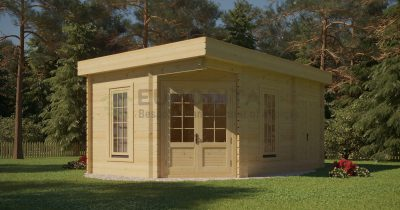 Corner Log Cabin [3.5×5.0m]