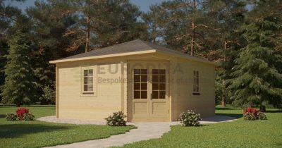 Corner Log Cabin 4x4m – Sera 1