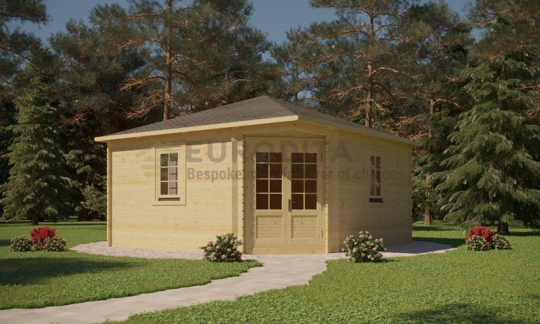 Corner Log Cabin 4x4m - Sera 1
