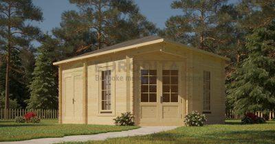 """Log Cabin Bethany"" 4,4x3 m, 44 mm"