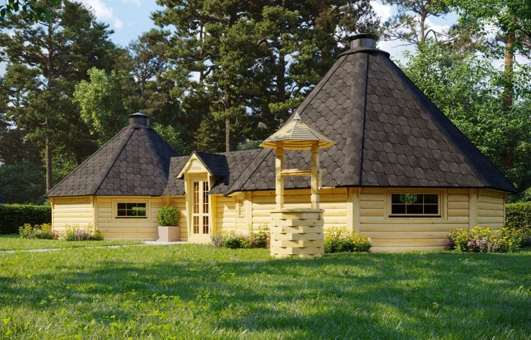 Double BBQ Hut 16.5m2 + 25m2 - Senary