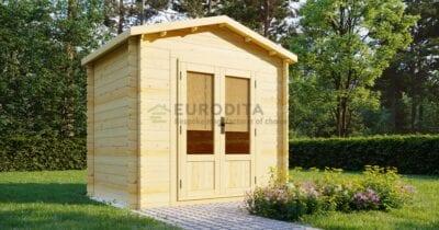 """Log Cabin Bitsy"" 2×2,6 m, 28 mm"