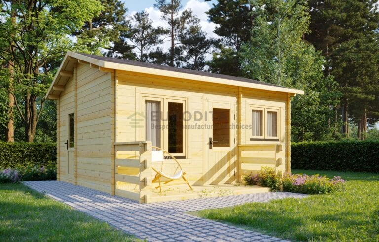 Standard Log Cabin 6×5.2m - Emily