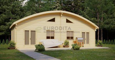 Cabaña de madera laminada Bosque - Doble