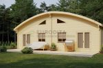 Glulam Camping Double Log Cabins