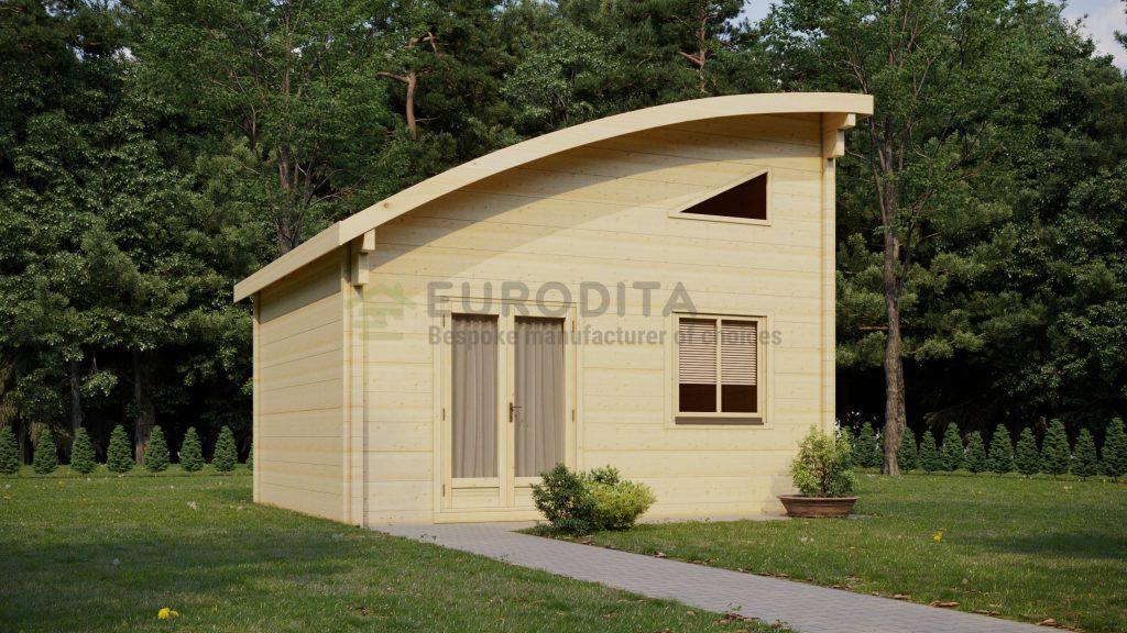 Cabaña de madera laminada Bosque - Individual