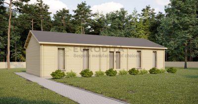 Cabaña de troncos de madera laminada Fairhouse