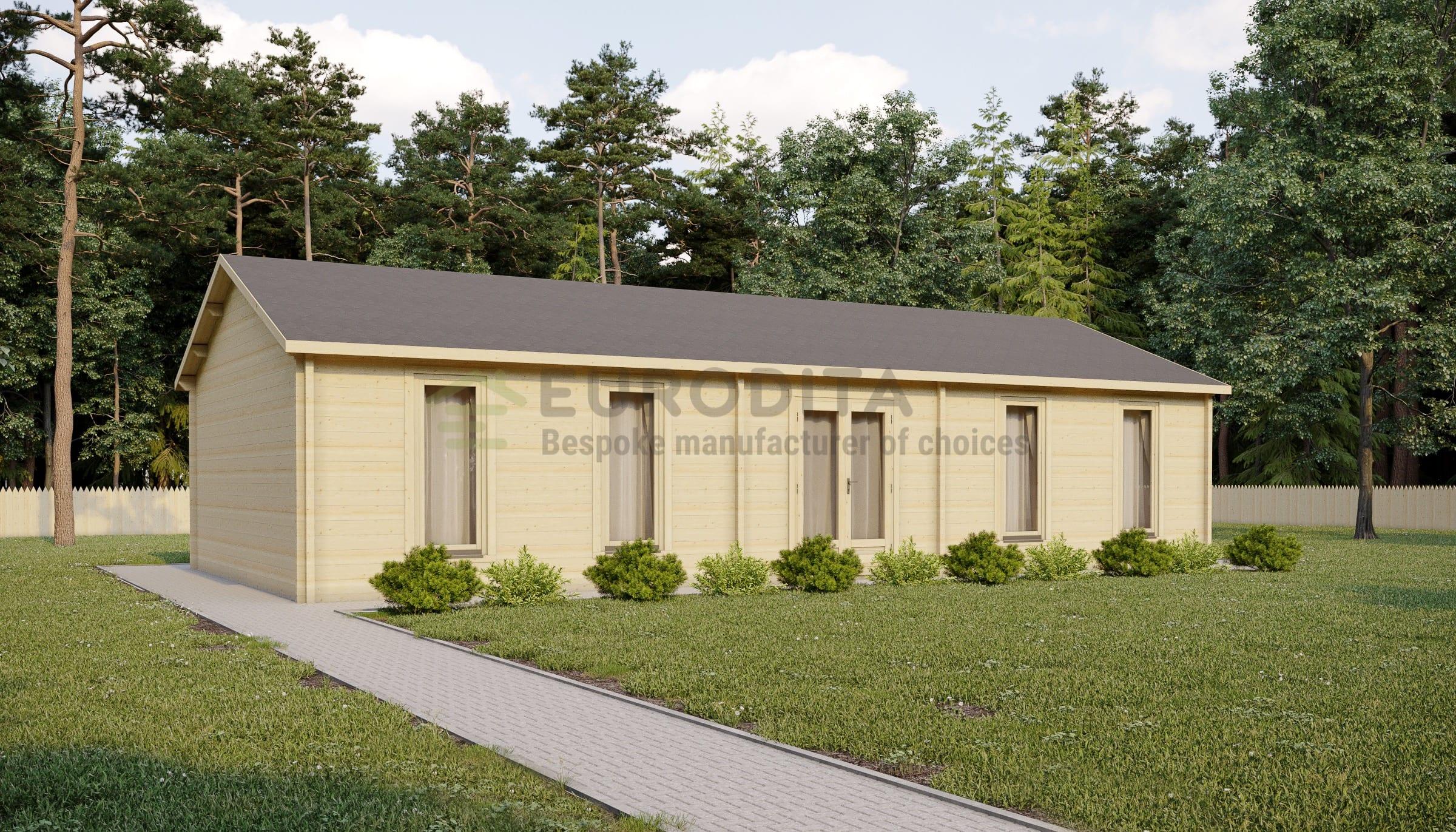 Eurodita glulam log house