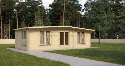 Cabaña de madera laminada Gilbert