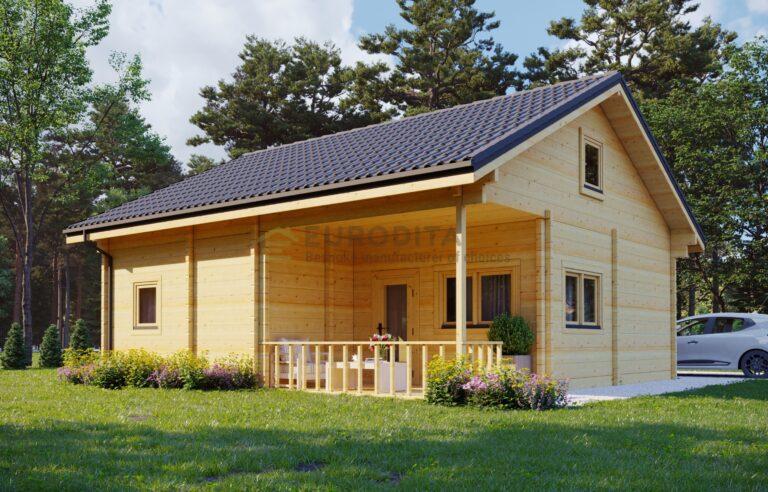 Glulam Log House Paris
