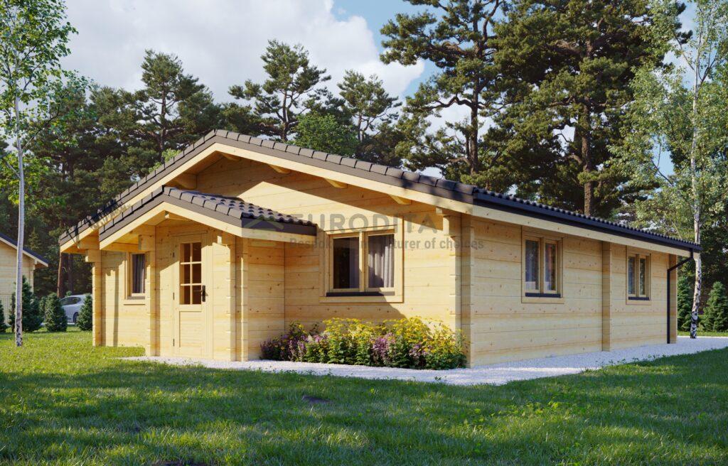 Casa de troncos de madera laminada en Oslo