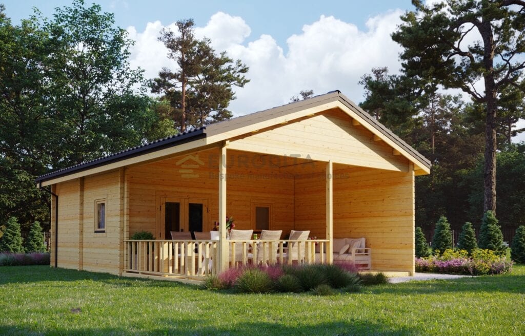Glulam Log House Richaud