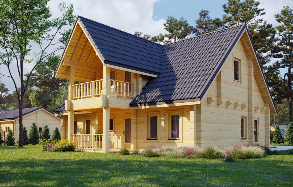 Casa in legno lamellare Roma