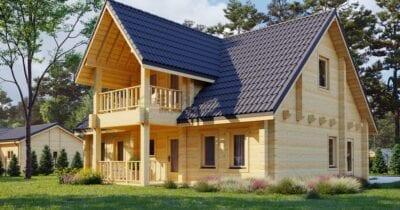 Casa de madera laminada Roma