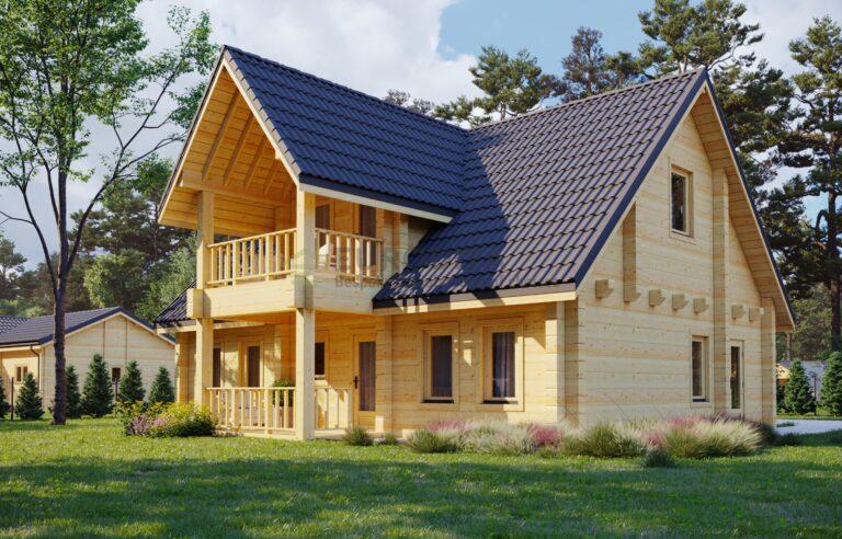 Glulam Log House Rome