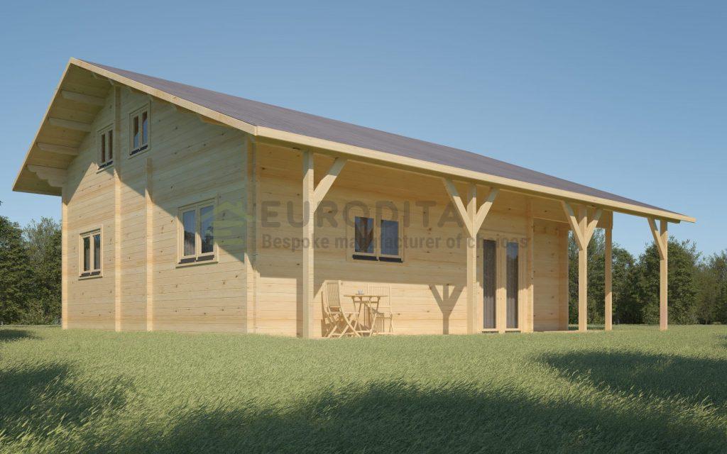 Glulam Log House Dallemurstoit