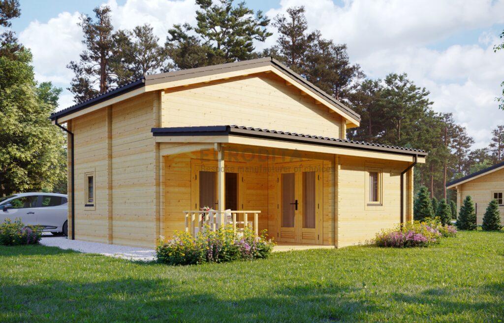 Glulam Log House Guezello