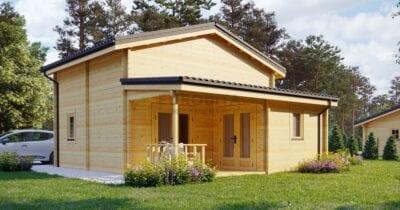 Casa de madera laminada Guezello