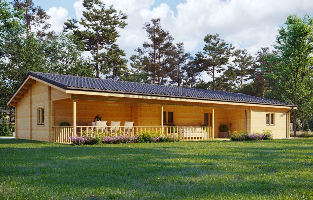 Glulam Log House Lucien