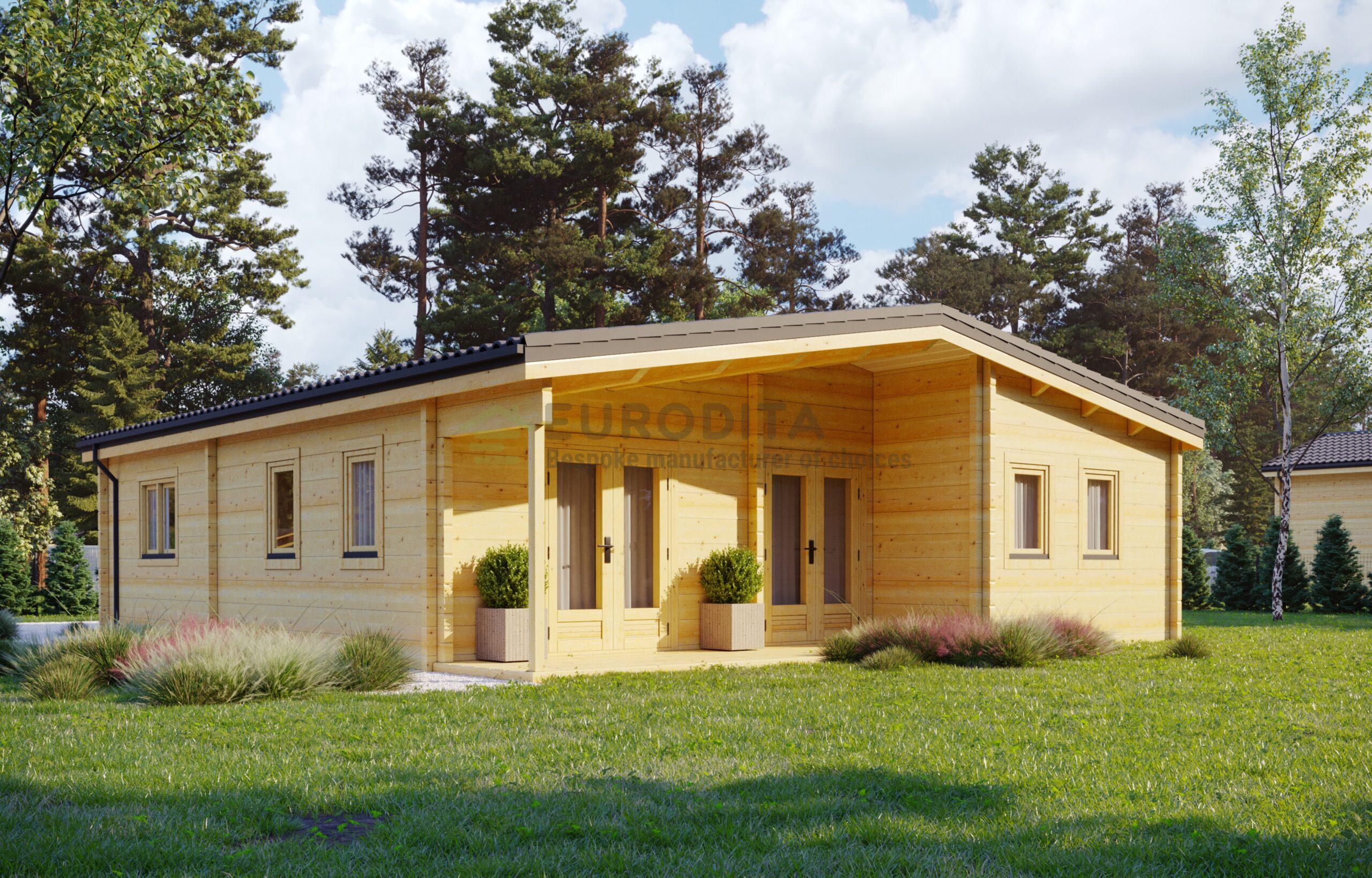 Glulam Log House E0208B
