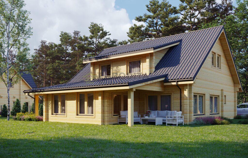 Glulam Log House Riga